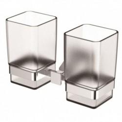 1235 Держатель стаканов двойной(стекло) KAISER хром