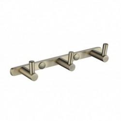 0023 Планка KAISER с 3-мя крючками Bronze