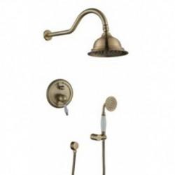 31077-1 KAISER Rios скрытый монтаж с верх. и нижним душем мет. Bronze