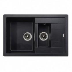 """Мойка-Гранит """"KAISER"""" (двойная) 780x500x190 Black Pearl"""