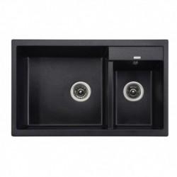"""Мойка-Гранит """"KAISER"""" (двойная) 800x500x190 Black Pearl"""