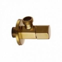 255-G Кран KAISER угловой 1/2х1/2 Gold